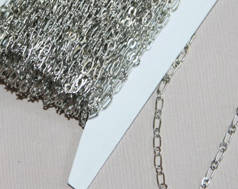 32ft Antique silver plated Chain Long and Short Link 4X2mm - soldered links