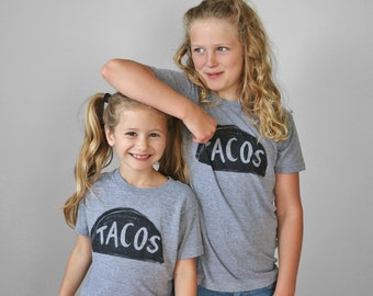 Best Friend Shirts, Taco Tuesday Set, gift for kids, taco shirts, matching shirts, besties shirts brother sister shirts best friend gift