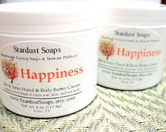 Happiness Rich and Thick Hand and Body Cream (moisturizing, gift idea, fresh) Stardust soaps