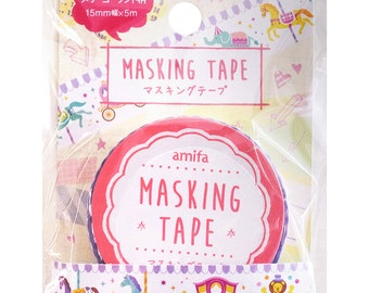 Merry-go-round Washi Tape • Merry go round Washi Tape • Carousel Washi Tape • Carousel Ride (32246)