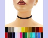 Velvet Choker 3/8 inch wide Custom made Your Length and Color Black White Gray shades + (approximate width 0.375 inches; 9 - 10 mm)