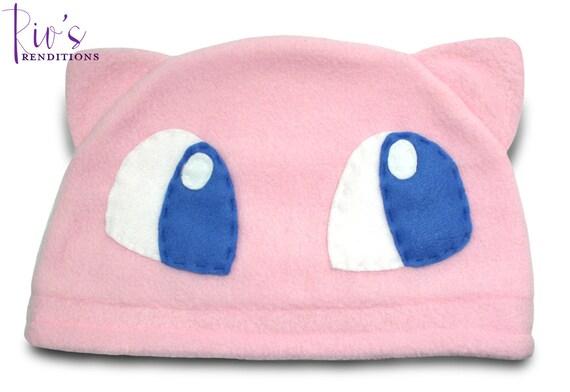 Pokemon - Mew Hat / Fleece Hat / Winter Hat / Pokemon Hat / Fleece Pokemon Hat / Video Game Characters