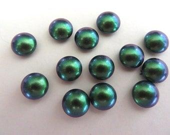 5 Scarabaeus Green Swarovski Crystal Cabochon Pearls 5817 8mm