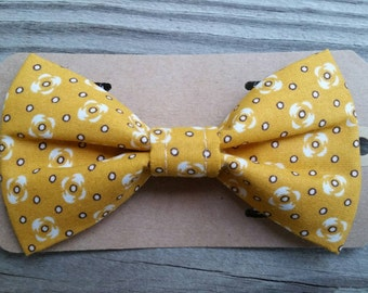 Yellow Bow Tie Pet Collar BowTies photography pet fashion weddings pet couture dog fashion