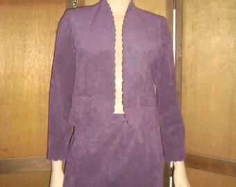 80's Purple Ultra Suede Suit