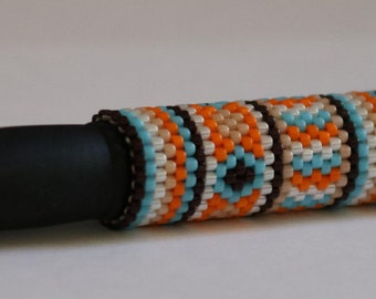 African Design Beaded Pen Cover with G2 Black Pen SALE