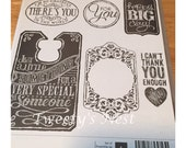 Stampin' UP! Chalk Talk Clear Mount Stamp Set Retired stamps For You Thank You Happy Big Day