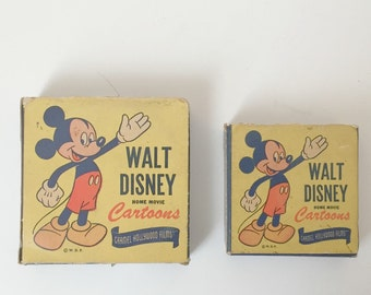 vintage pair Walt Disney home movie cartoons 1950s