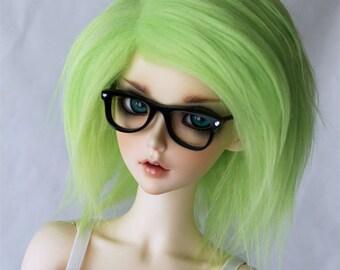 "8"" Lime green SD fake fur wig Monstrodesigns"