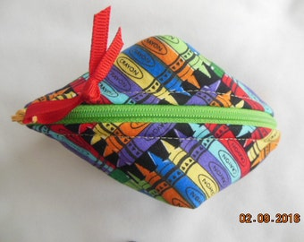 Crayons Coin Purse/Gift Card Holder