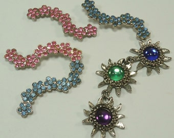 Floral Bits And Baubles Embelishments For Jewelry Making, Paper Crafting, Scrapbooking