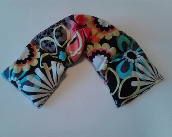 Heat Pack or Cold Therapy Wrap/ Neck Shoulder  Unscented-Dark Floral