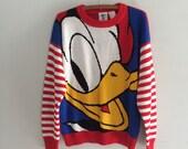 Vintage 90s Donald duck sweater / vintage disney sweater / donald duck sweater mickey mouse mickey and co.