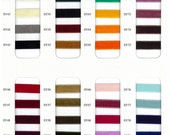 Colour Card for Velvet ribbons, shows all available colours. sample card also available for grosgrain, twill tape,  organza, satin ribbons