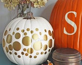 Halloween Decorations DIY Fall Decorating Gold Circle Dot Shaped Decals - Set of 175 Vinyl Wall Decals - Peel and Stick Gold Dot Stickers