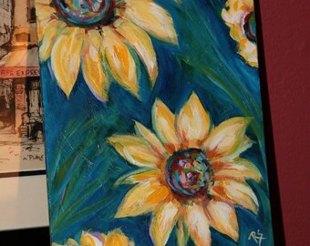 Sunflowers in September - Original Floral Painting