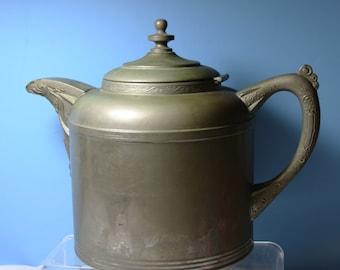 Vintage German Tea Kettle 1890s Vereign IMIK Company No. 6 Copper Patina