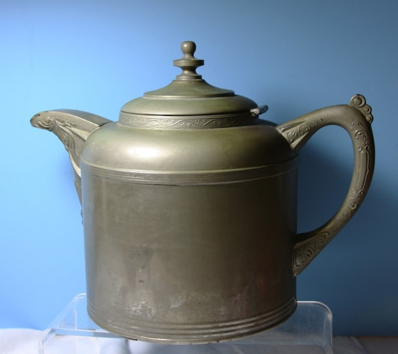 Vintage German Tea Kettle 1890s Vereign IMIK Company No. 6 Copper Patina