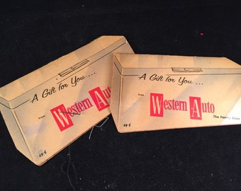 Pair of Vintage Western Auto Needle Books that Cover Looks Like an Old Freezer