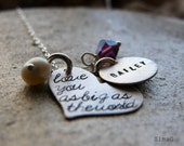i carry your heart with me - Choose The Colors Of Your Stone - Hand Stamped By Simag