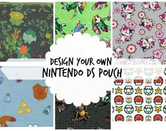 Nintendo 3DS XL Case / Nintendo Zipper Pouch / Design Your Own Bag Pokemon Zelda Mario