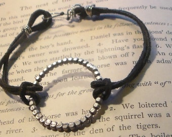 Sterling and Leather Bracelet