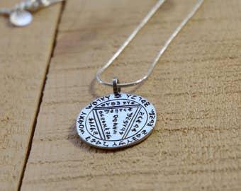 Creativity & Problem Solving Silver Solomon Seal Amulet