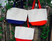 Personalized / Monogrammed Canvas Boat Tote Bag