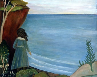 The Overlook, greeting card, ocean, sea, nature, lake