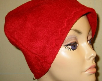 Kids Child  Red Cancer  Anti Pill Fleece Hat, Winter Hat, Cancer, Chemo Hat, Alopecia