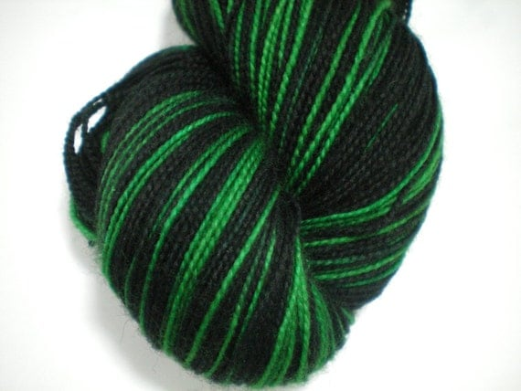 Shadowed Emeralds - Dyed to Order - Hand Dyed - Merino Wool Yarn - Fingering Weight