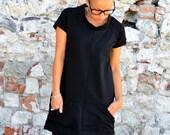 Short sleeves dress for women, women's clothing, womens dresses,minimal dress,design clothes,organic cotton dress