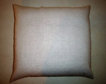 "Pillow Insert Whole Buckwheat hulls, 20""x20"" eco-friendly alternative to foam & feathers. Zipper for hull exchange, addition or subtraction"