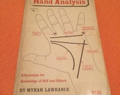Hand Analysis Book by Myrah Lawrance - Palm Reading