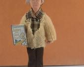 Roald Dahl Doll Miniature Collectible Author Children's Literature