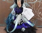 Ada Lovelace Computer Programmer History Doll Miniature Art