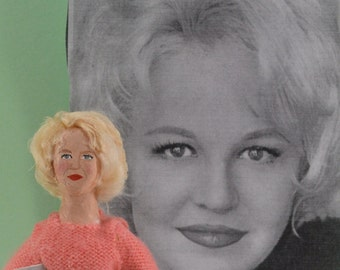 Peggy Lee Singer Doll Art Miniature Hand Created Music Collectible