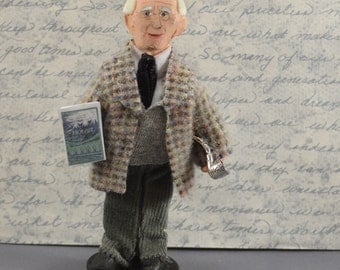 J. R. R. Tolkien Doll Miniature Author Art Doll Collectible