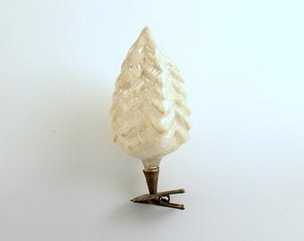 Vintage Christmas Glass Ornament Clip On Tree Christmas Decoration