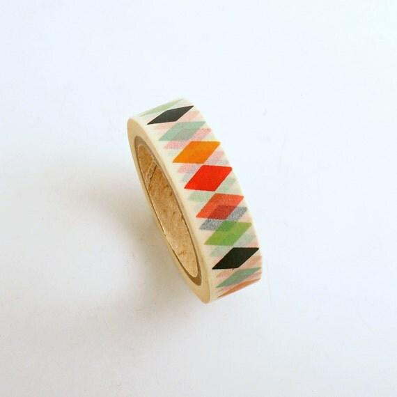 decorative tape washi paper tape diamonds adhesive tape