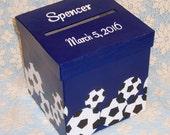 Bar Mitzvah Card Box, Wedding Card Box, Soccer Card Box