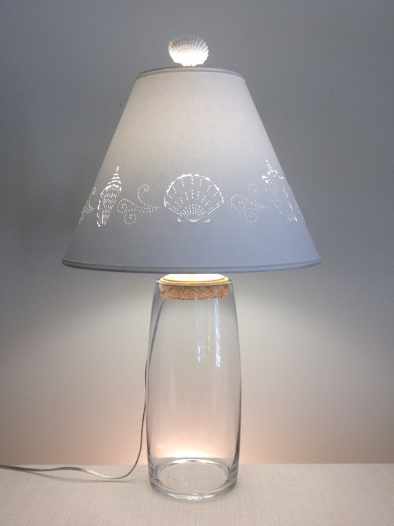 clear glass fillable lamp fillable lamp seashell fillable lamp glass. Black Bedroom Furniture Sets. Home Design Ideas