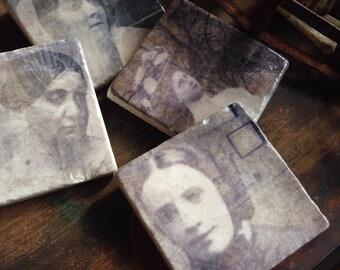 Haunted Women - stone coasters