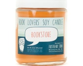 Bookstore - Book Candle -  Book Lover Gift - Scented Soy Candle - Frostbeard Studio - 8oz jar