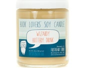 Wizardy Buttery Drink - Soy Candle - Book Lovers' Scented Soy Candle - 8oz jar