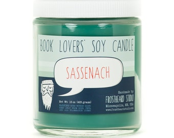 Sassenach - Soy Candle - Book Lovers' Scented Soy Candle - 8oz jar