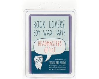 Headmaster's Office - Book Candle Tart - Book Lover Gift - Scented Soy Candle Melt - Frostbeard Studio - 3oz Pack