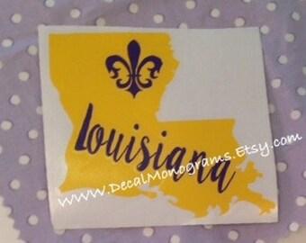 Louisiana fleur de lis Vinyl Decal