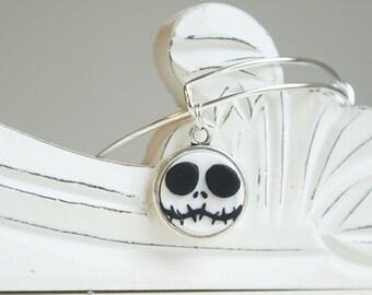 Jack Nightmare Before Christmas Adjustable Bangle Bracelet - Style #24