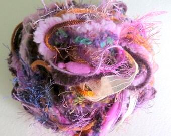Fibers Lot - Craft Supplies - Dreamcatcher - Scrapbooking - Knitting - Crochet - Yarn Lot - Altered Art - Fringe